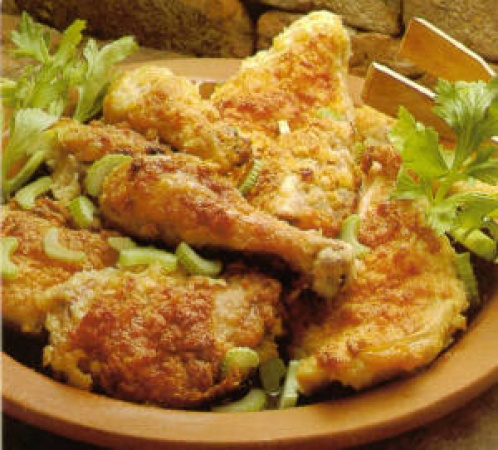 Crisp Crusted Baked Chicken